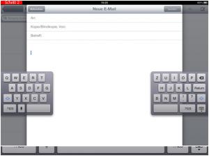 iPad Tastatur geteilt