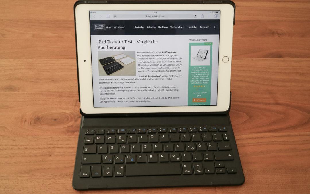 Inateck BK2001 iPad Air 2 Tastatur Testbericht